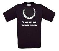 Fun t-shirt korte mouw s werelds beste boer