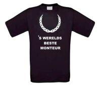 Fun t-shirt korte mouw s werelds beste monteur