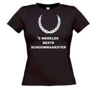Fun t-shirt korte mouw s werelds beste schoonmaakster