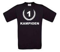 Kampioen nummer 1 t-shirt korte mouw