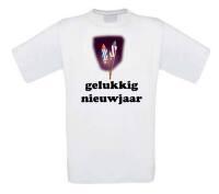Gelukkig nieuwjaar met vuurpijlen t-shirt korte mouw