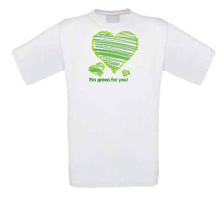 i am green for you t-shirt korte mouw