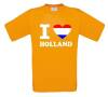 i love holland t-shirt hollands vlag korte mouw oranje