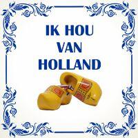Ik hou van holland tegel met klompen