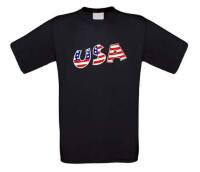 Usa America united state t-shirt korte mouw