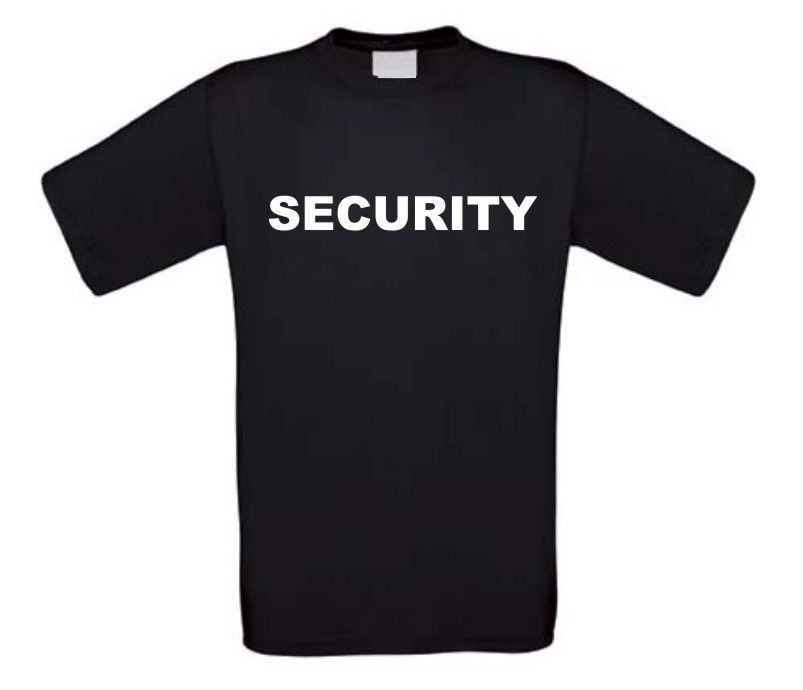 t-shirt korte mouw security