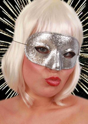 Oogmasker domino glitterzilver (bron: BBWebwinkel)