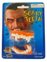 Halloween Dracula gebit rubber op blister