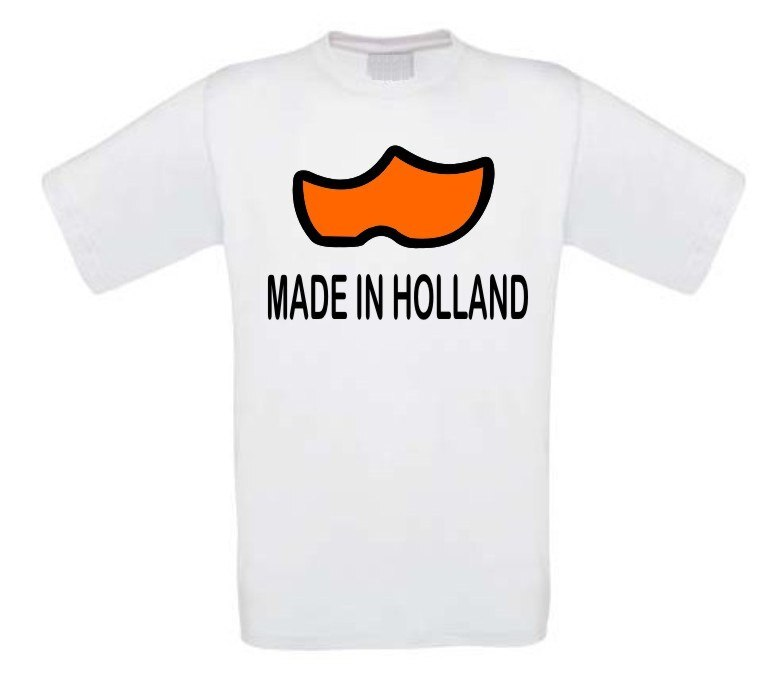 made in holland klompen t-shirt korte mouw