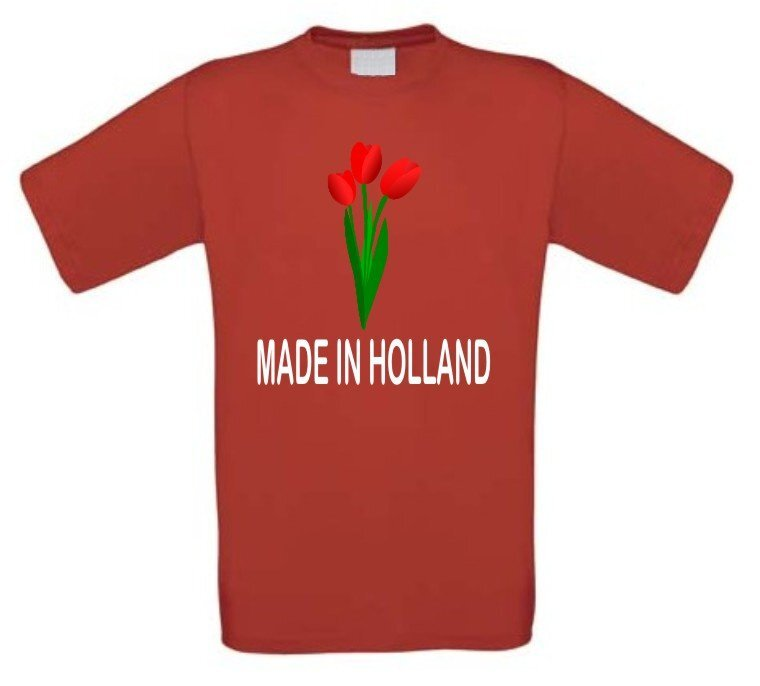 Made in holland tulpen t shirt korte mouw for Made in t shirts
