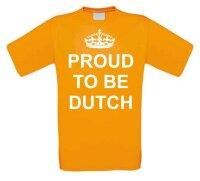 Proud te be dutch t-shirt korte mouw