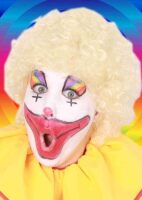 Pruik clown blond