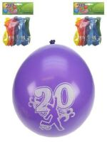 Leeftijdballon 20 jaar per 8