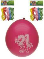 Leeftijdballon 21 jaar per 8