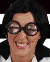 Bril met dikke lens hele foute nerd bril