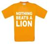 nothing beats a lion t-shirt korte mouw