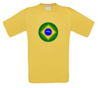 Ronde brazilie vlag t-shirt korte mouw
