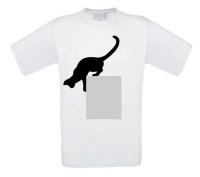 Springende poes t-shirt korte mouw