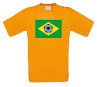 Brazilie voetbalvlag voetbalshirt