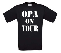 Opa on tour t-shirt korte mouw