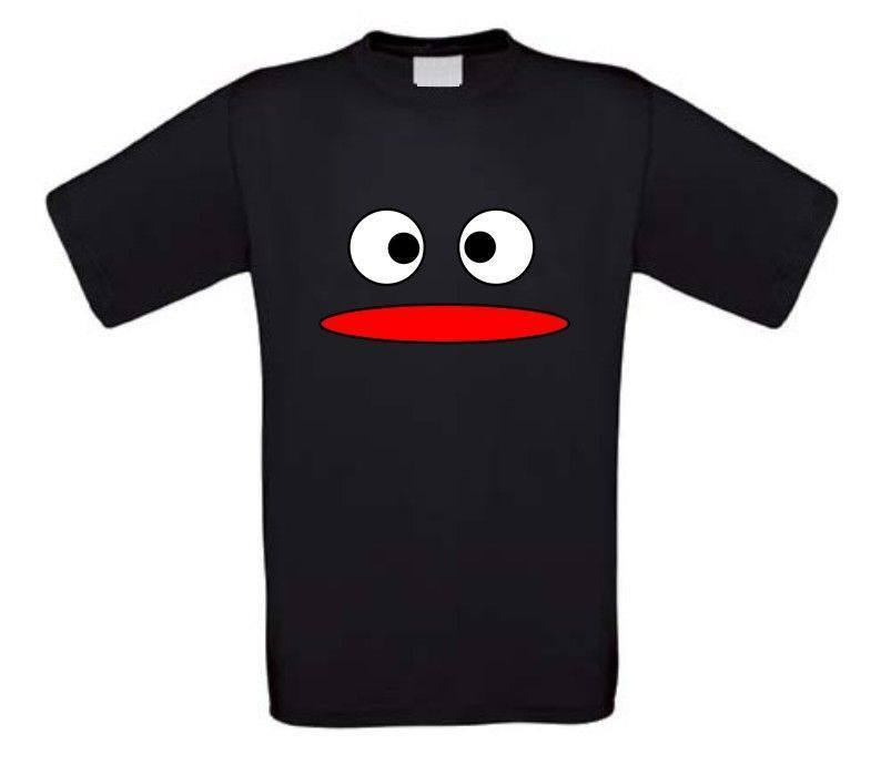 Zwart monster t-shirt korte mouw