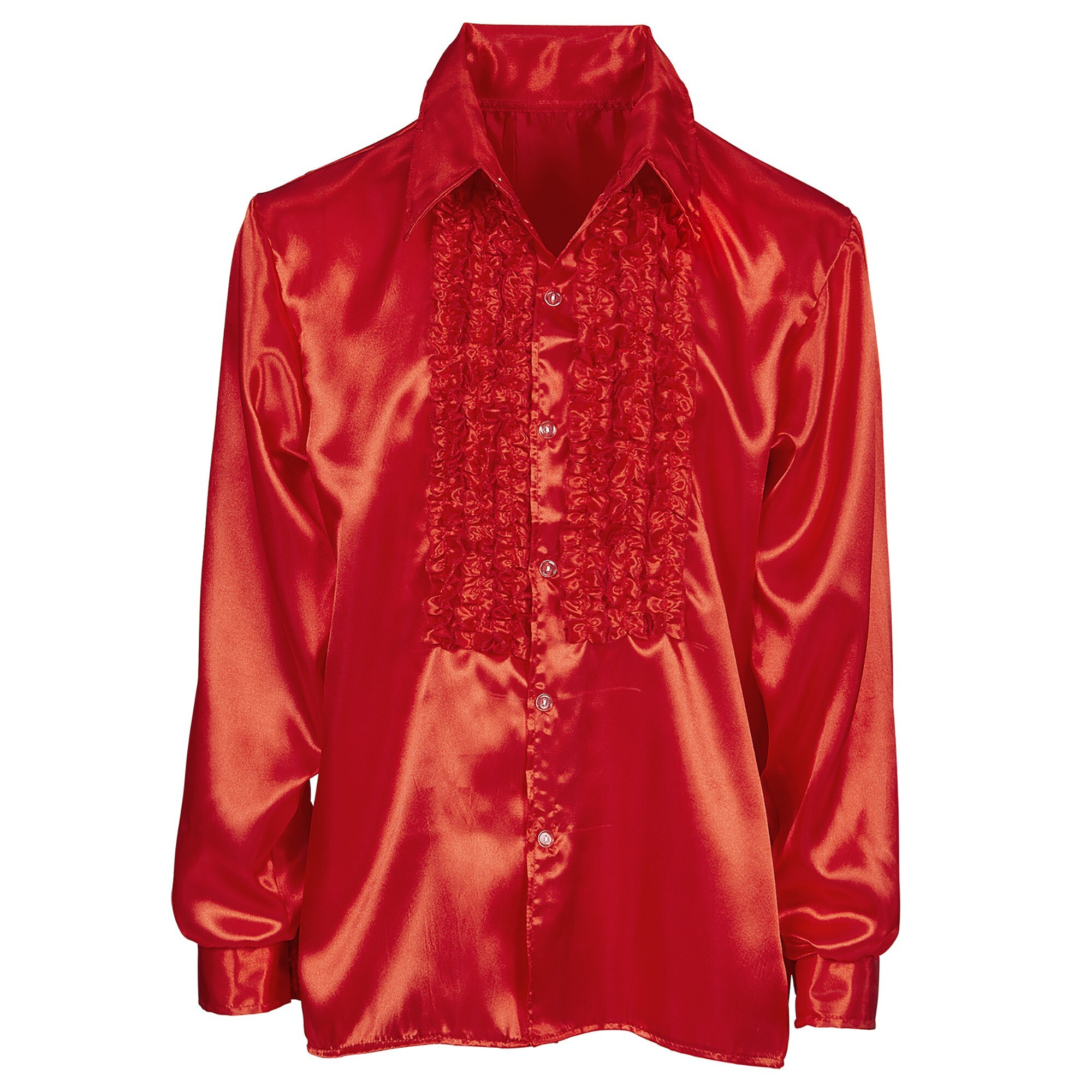 Rouche blouse rood