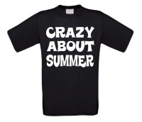 t-shirt korte mouw crazy about summer