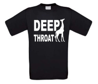 deep throat dubbelzinnig t-shirt korte mouw