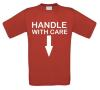foto 3 handle with care t-shirt dubbelzinnig