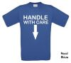foto 8 handle with care t-shirt dubbelzinnig
