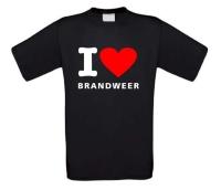 I love brandweer t-shirt