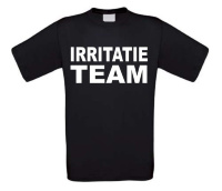 irritatie team t-shirt korte mouw
