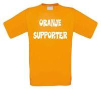 Oranje supporter t-shirt korte mouw