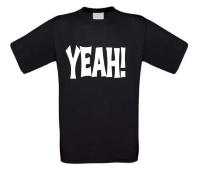 Yeah t-shirt korte mouw fun humor