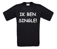 ik ben single t-shirt korte mouw