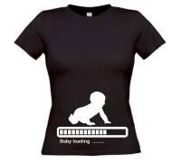 Zwanger baby loading t-shirt korte mouw