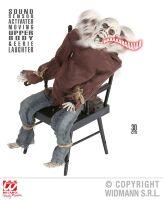 Animatie skelet vastgebonden op stoel met geluid en beweging halloween