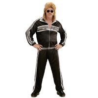 Super fout Trainingspak zwart maaskantje outfit
