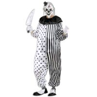 killer clown pierrot zwart wit outfit