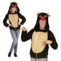 Hoodie stier stieren vest kostuum volwassen