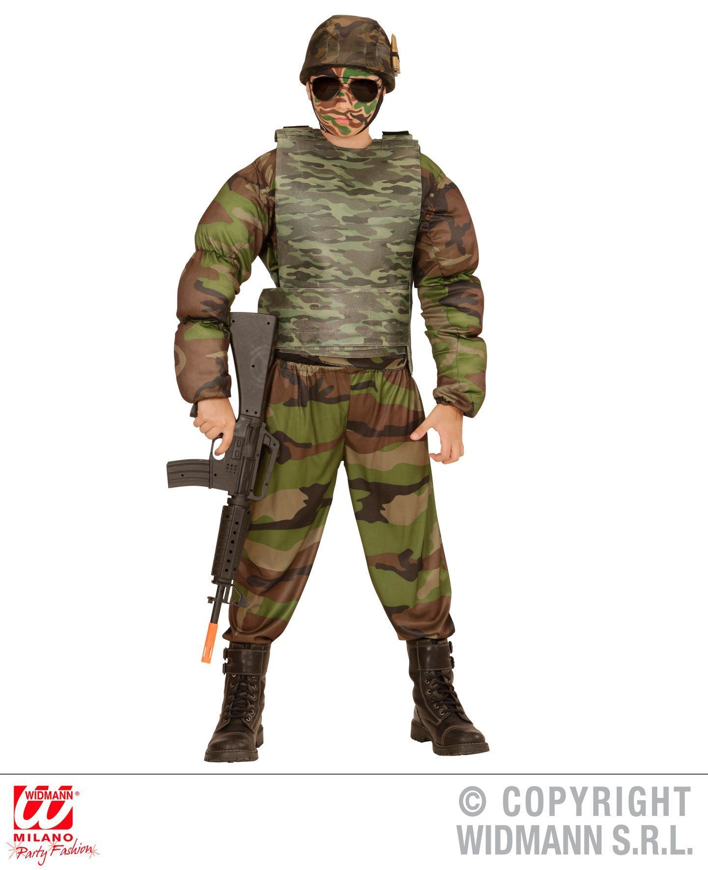 Militair kogelvrij vest soldaat camouflage kind in the army