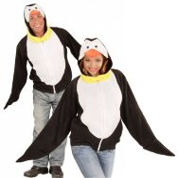 Pinguin vest hoodie volwassen outfit