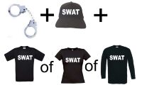 Swat set handboeien swat pet en swat t-shirt