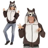 Wolf wolven vest hoodie volwassen kostuum