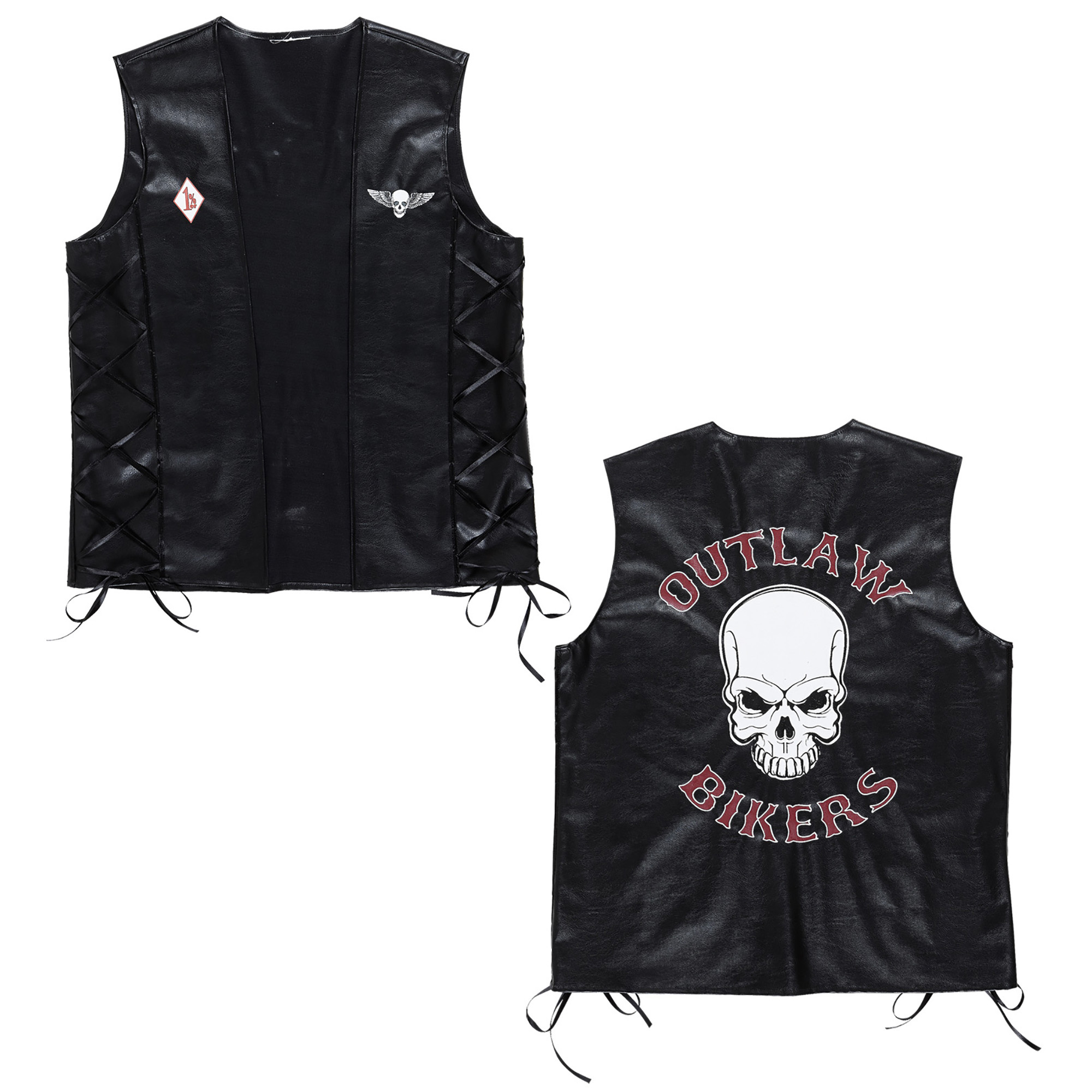 lederlook vest outlaw bikers