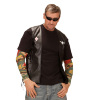foto 3 lederlook vest outlaw bikers
