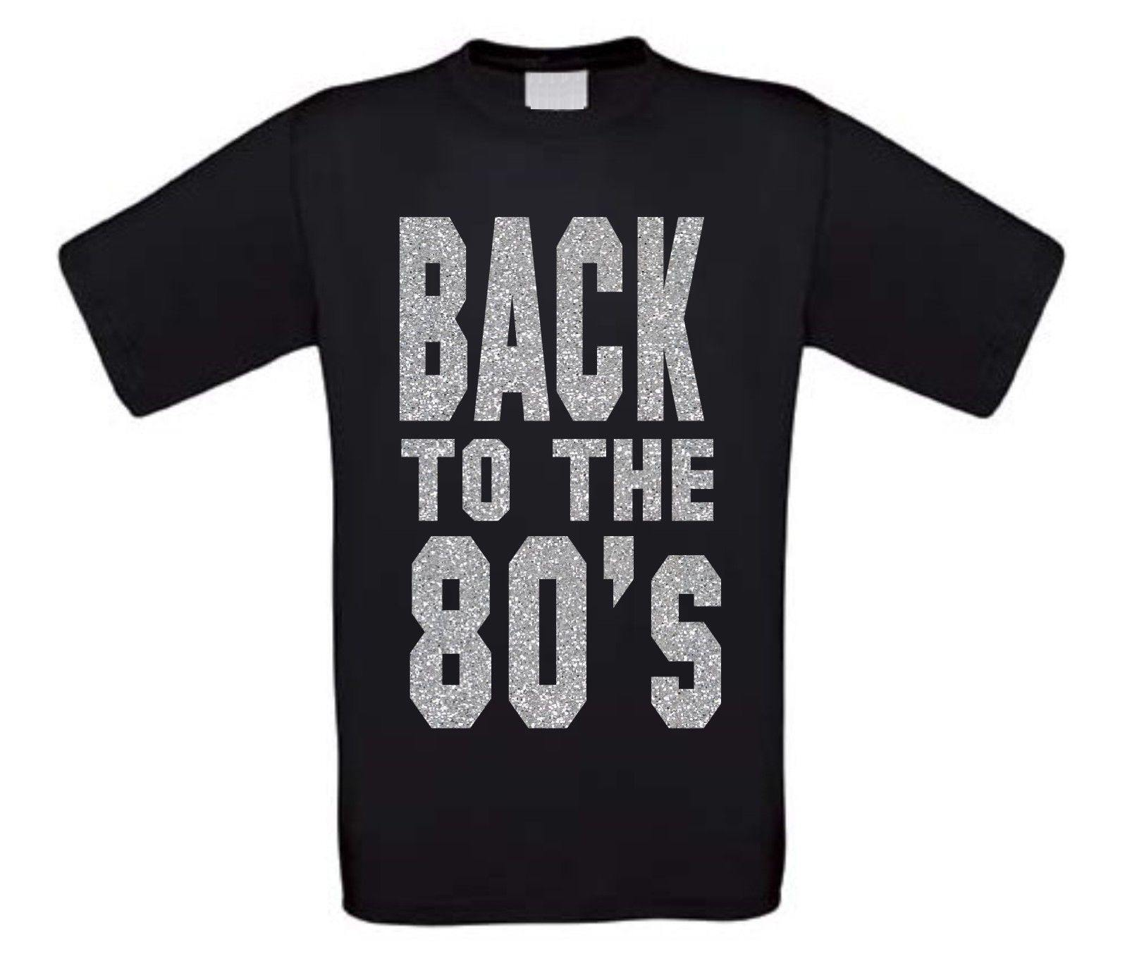 back to the 80ties t-shirt korte mouw glitter zilver