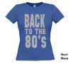 foto 10 back to the 80ties t-shirt korte mouw glitter zilver
