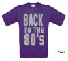 foto 4 back to the 80ties t-shirt korte mouw glitter zilver