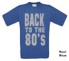 foto 5 back to the 80ties t-shirt korte mouw glitter zilver